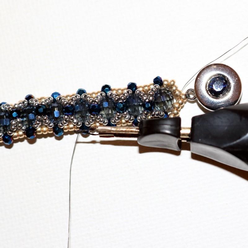 Looking Glass Bracelet burn thread ends