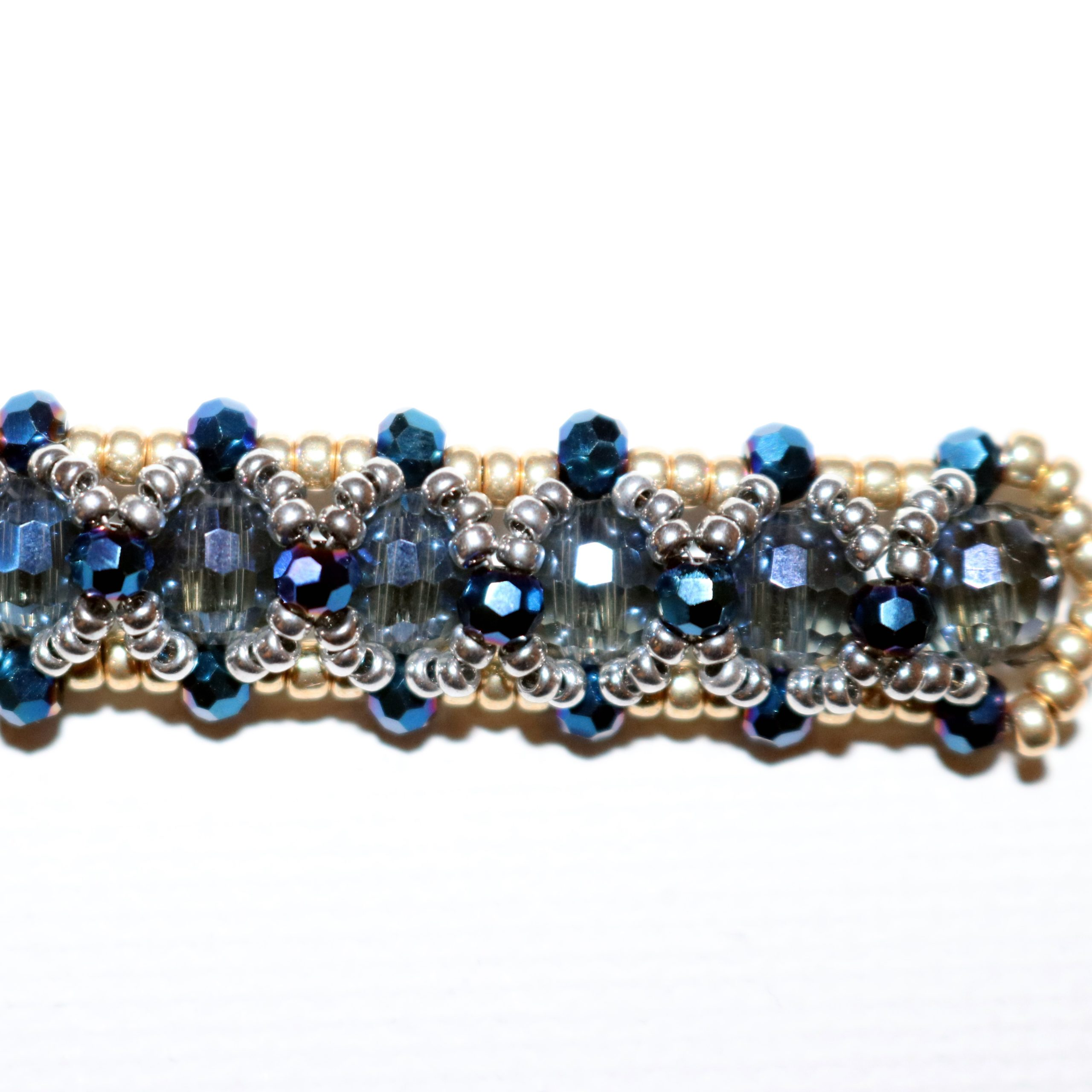 Looking Glass Bracelet showing clean thread finish