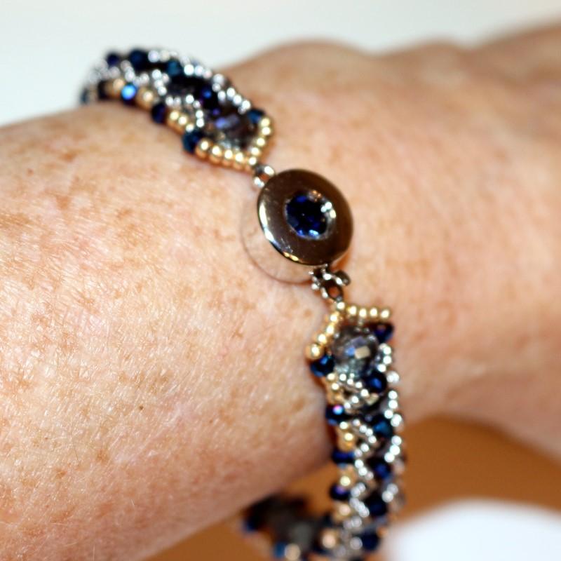 Looking Glass Bracelet Finished on Wrist 1
