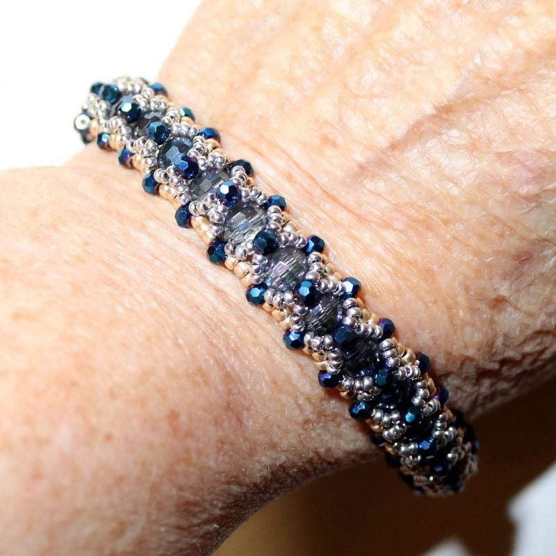 Looking Glass Bracelet Finished on Wrist 2