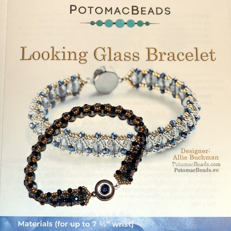 Looking Glass Bracelet Finished with Pattern 1