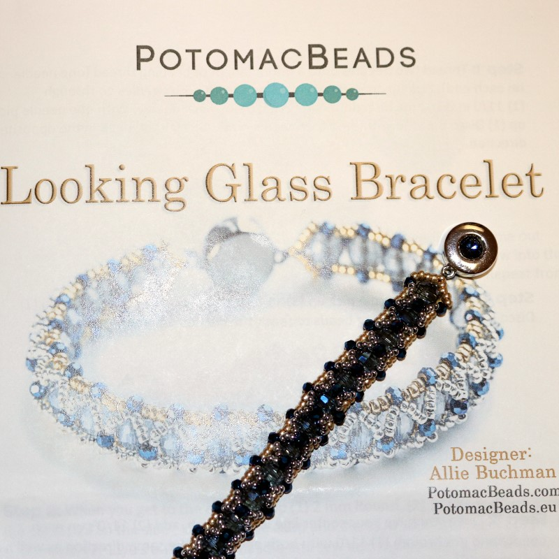 Looking Glass Bracelet Finished with Pattern 2