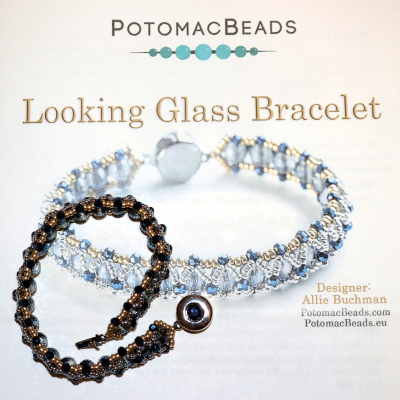 Looking Glass Bracelet Finished with Pattern 3