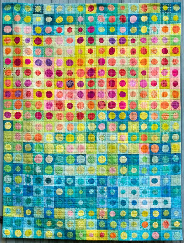 Weather Bubble Temperature Quilt by Jo Avery
