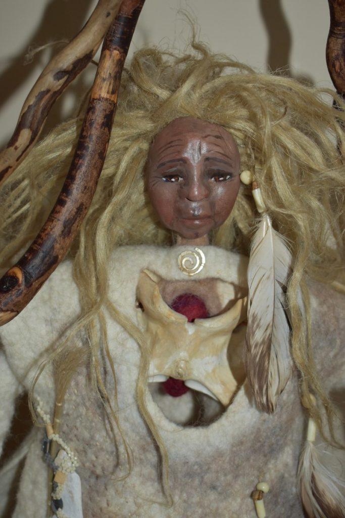Bone Woman Closeup by Sharon Riley