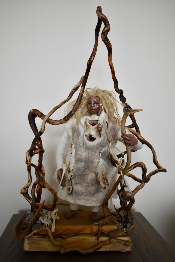 Bone Woman ~ inspired by the writings of Clarissa Pinkola Estes by Sharon Riley