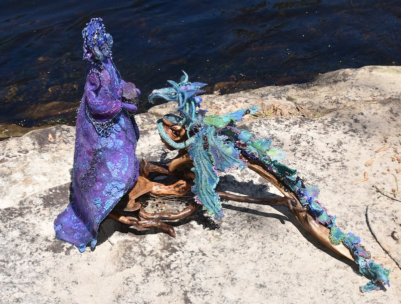 The Water Dragon and Her Luminary ~ full photo ( Emissaries of Love and Light) by Sharon Riley