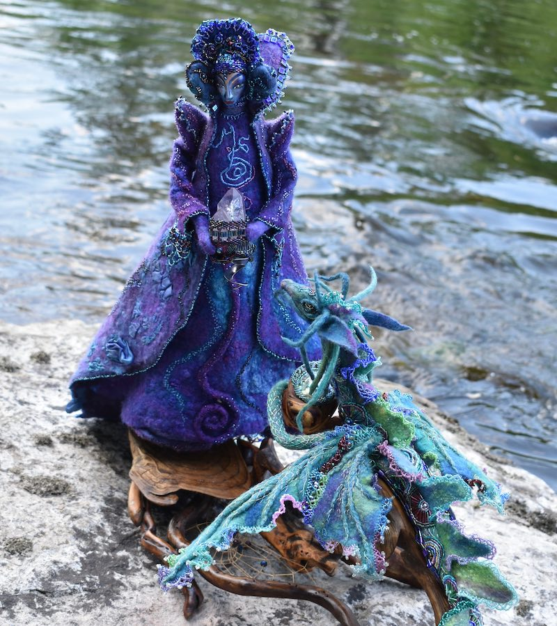 The Water Dragon and Her Luminary~ closeup by Sharon Riley