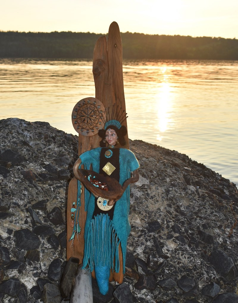 Ancestor Messenger of the Great Star Nations ~ Anasazi Woman by Sharon Riley